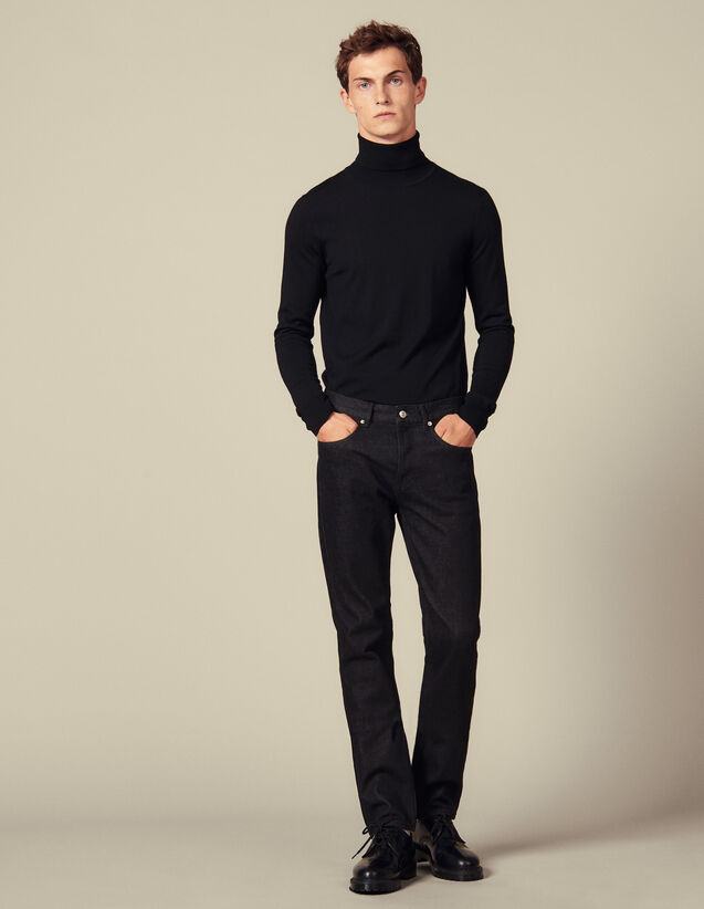 Raw-Denim-Jeans mit Slim-Fit : Jeans farbe Black - Denim