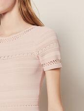 Halblanges Strickkleid : Kleider farbe Rosa