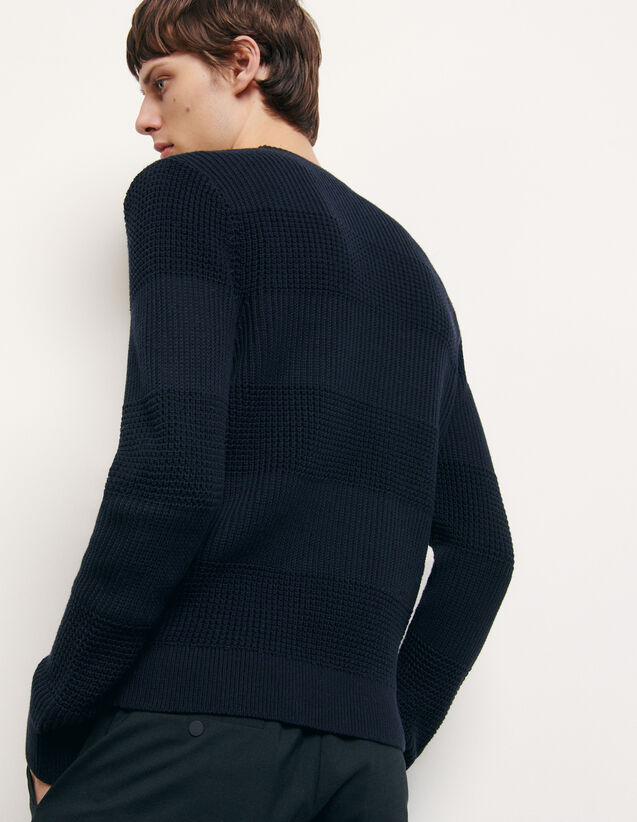 Baumwollpullover mit Rundhalsausschnitt : Pullovers & Cardigans farbe Marine