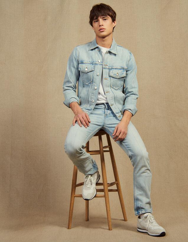 Jeans Hell Verwaschen – Gerader Schnitt : Sélection Last Chance farbe Blue Vintage - Denim