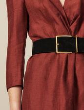 Breiter Gürtel Aus Spaltleder : Die ganze Winterkollektion farbe Schwarz