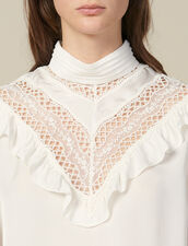 Top Mit Spitzeneinsatz : Tops & Hemden farbe Ecru