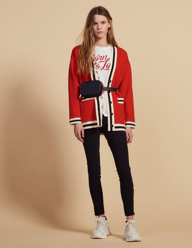Cardigan Mit Bedrucktem Innenfutter : Pullover & Cardigans farbe Rot