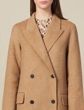 Langer Doubleface-Mantel Aus Wolle : Mäntel farbe Beige Meliert