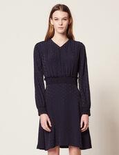 Kurzes Kleid Aus Jacquard : null farbe Marine