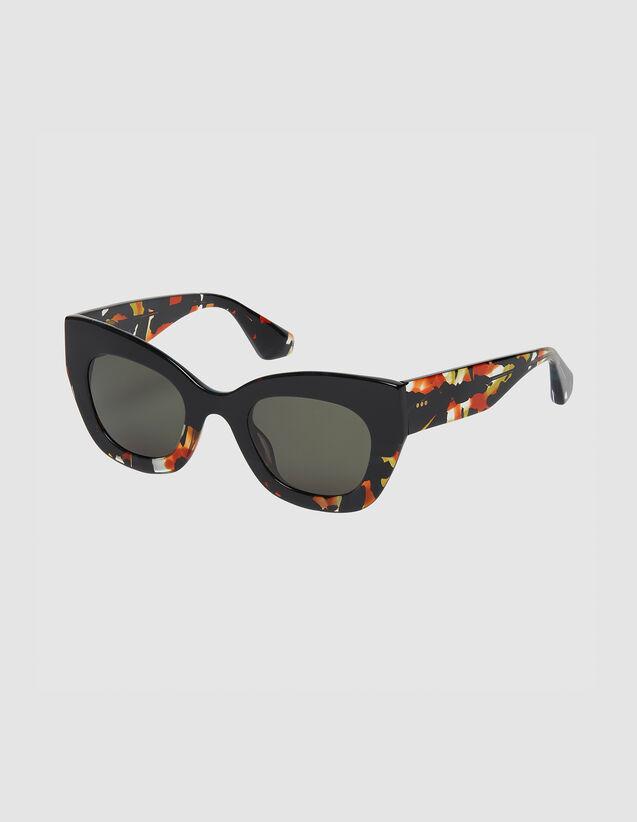 Oversize-Sonnenbrille : Sonnenbrille farbe Noir/Ecaille