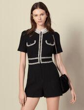 Jumpsuit aus Tweed : Overalls farbe Schwarz
