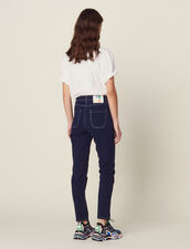 Jeans Mit Kontrastnähten : Jeans farbe Marine
