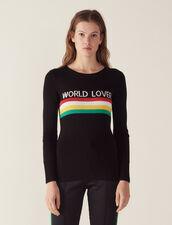 Pullover Mit Farbigen Streifen : null farbe Schwarz
