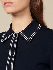 Kurzer Cardigan im Hemdenstil : Pullover & Cardigans farbe Marine