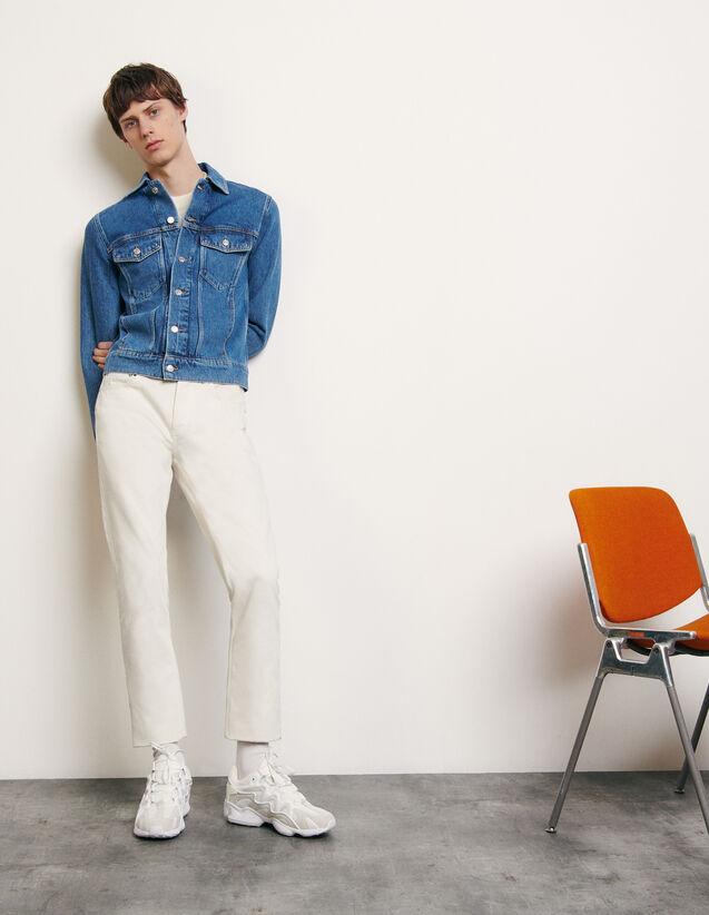 Jacke aus verwaschenem Denim : Sommerkollektion farbe Blue Vintage - Denim