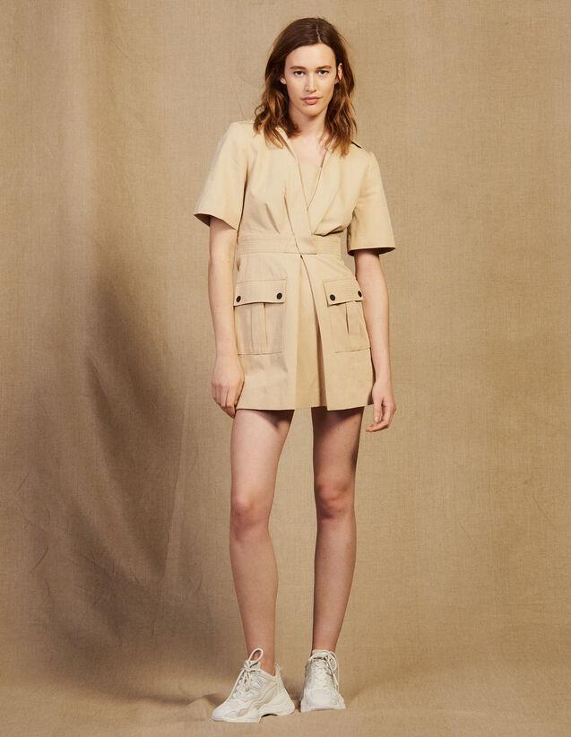 Kurzes Kleid Im Sahara-Stil : Kleider farbe Sand