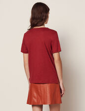 T-Shirt Aus Leinen Mit Kurzen Ärmeln : null farbe Terrakotta