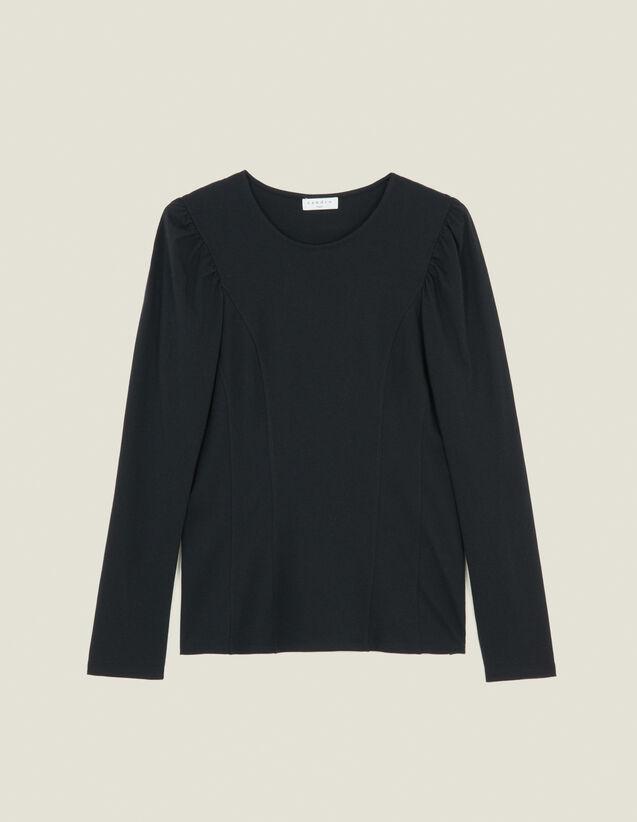 T-Shirt Aus Jersey Mit Passen : T-shirts farbe Schwarz
