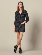 Kurzes Tweedmantelkleid : Kleider farbe Marine