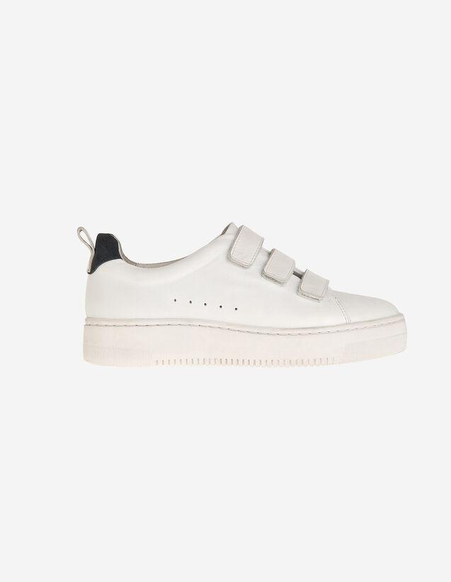 Sneaker aus Leder mit Klettverschluss : Schuhe farbe Weiß