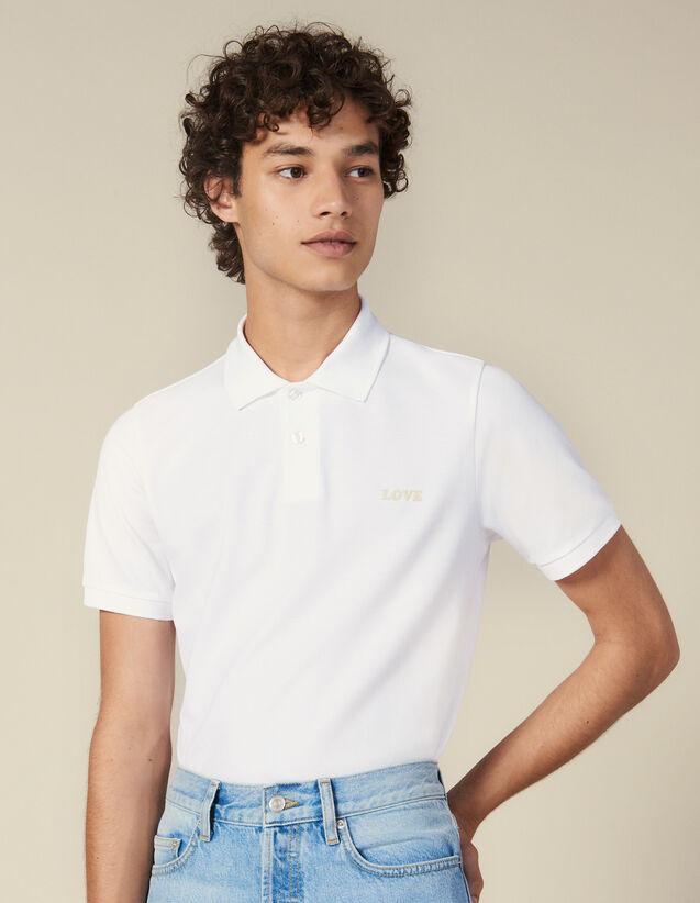 Poloshirt Aus Baumwolle Mit Schriftzug : Neue Kollektion farbe Blau