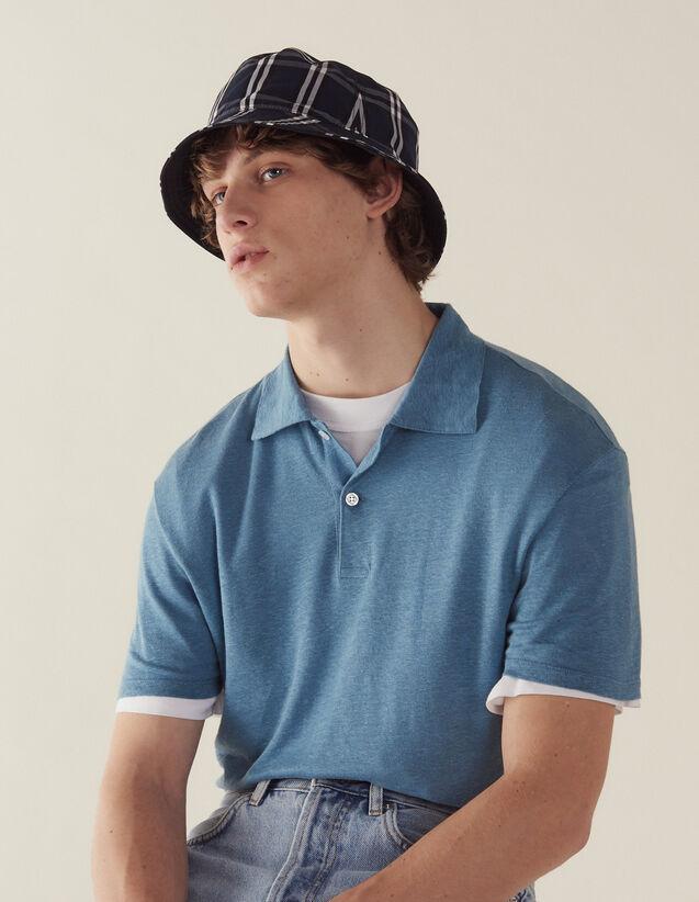 Kurzärmeliges Leinen-Poloshirt : Sélection Last Chance farbe Hellblau