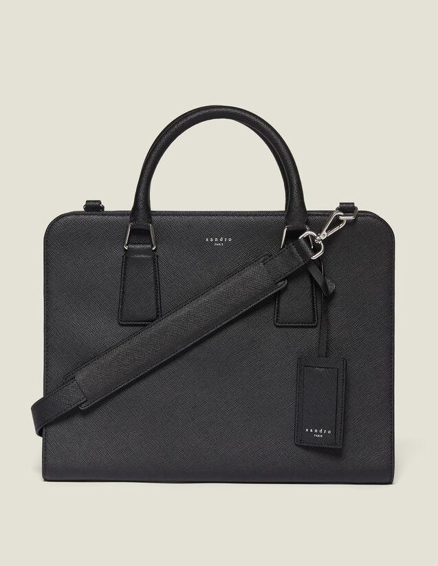 Aktentasche Aus Saffiano-Leder : Briefcases farbe Schwarz