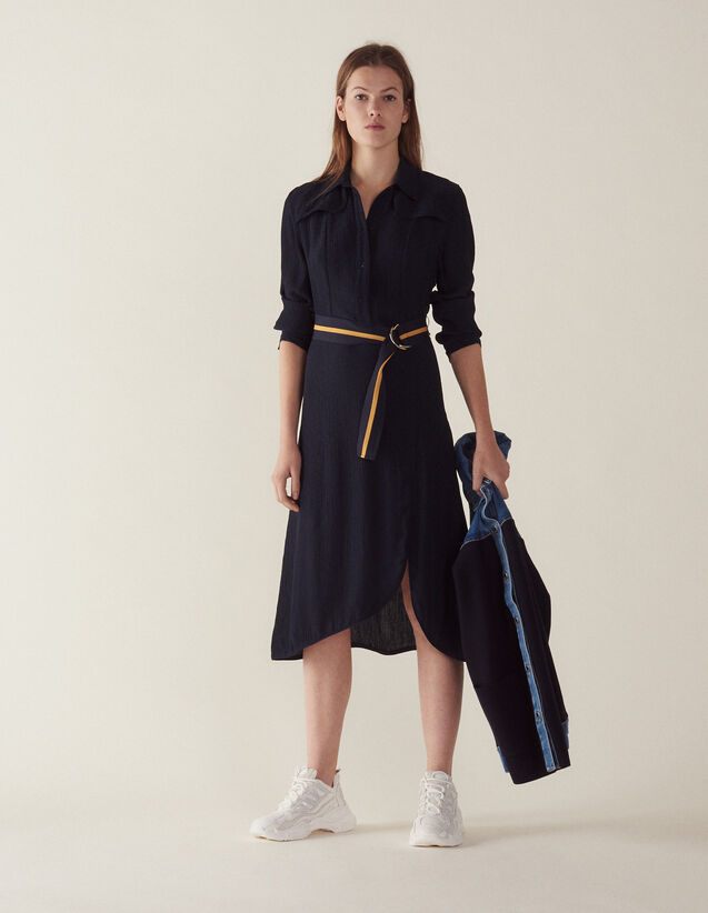 Langes Hemdkleid : Kleider farbe Marine