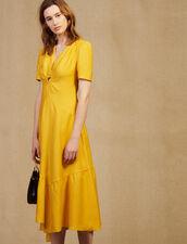 Langes Kleid Mit Bezogenem Ring : null farbe Bleu jean