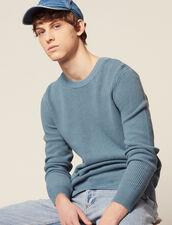 Pullover Aus Relief-Baumwollstrick : Pullovers & Cardigans farbe Stahlblau