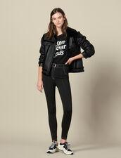 Leggings Mit Kontrastierenden Ziernähten : Hosen farbe Schwarz