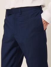 Anzughose Aus Mohair-Wolle : Sélection Last Chance farbe Blau