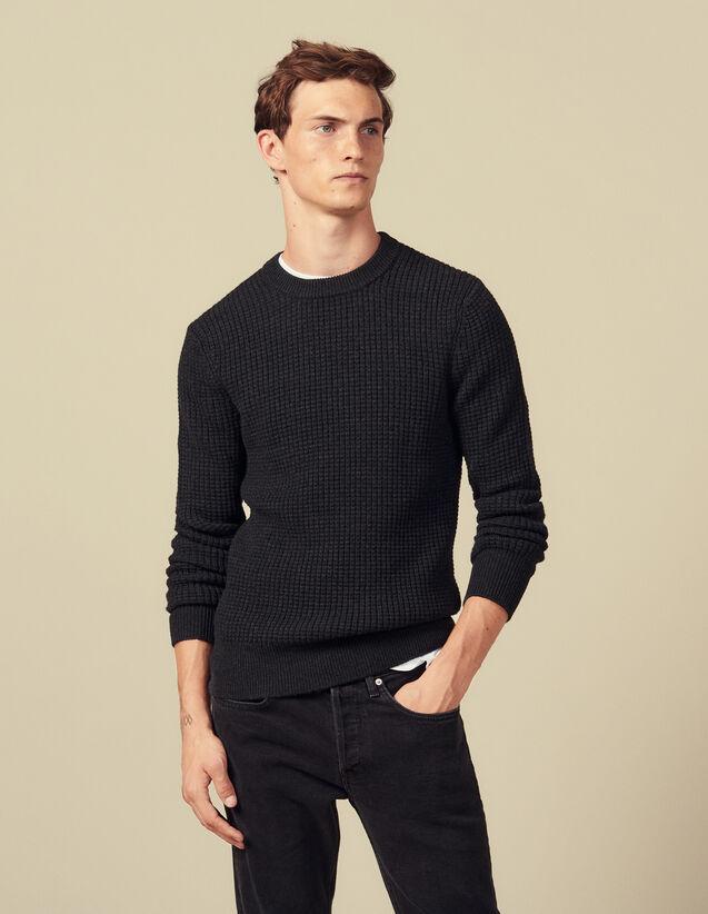 Pullover mit Zierstich : Pullovers & Cardigans farbe Vert foncé