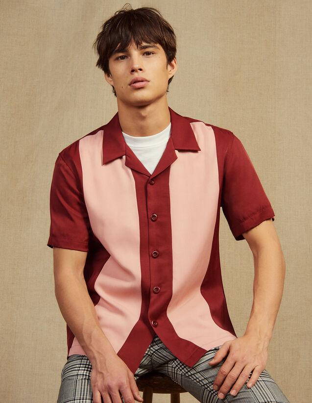 Fließendes Kurzarmhemd : Hemden farbe Bordeaux