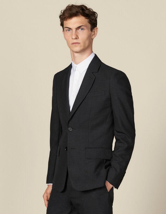 Anzugsakko mit Ziernaht und drei Knöpfen : Anzüge & Smokings farbe Anthrazit