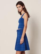 Kurzer Ausgestellter Strickrock : null farbe Bleu jean