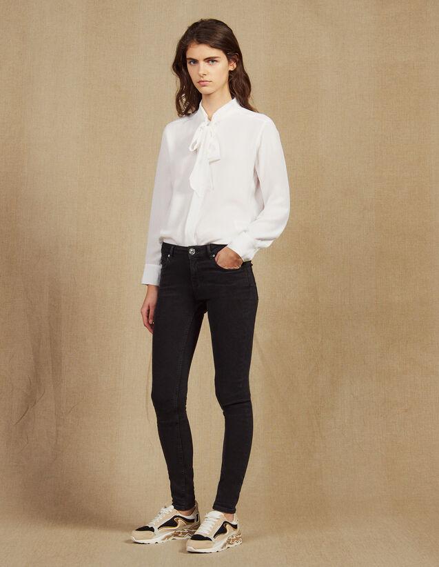 Slim-Jeans Mit Normalem Taillenbund : Jeans farbe Schwarz
