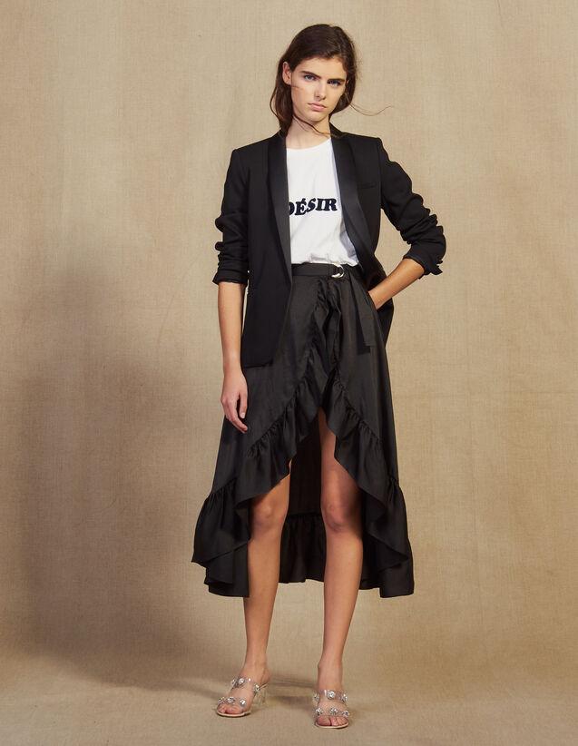 Asymmetrischer Skort Mit Volants : Röcke & Shorts farbe Schwarz