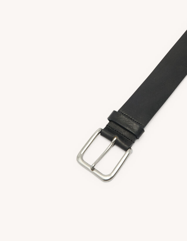 Lässiger Gürtel aus Leder : Gürtel farbe Schwarz