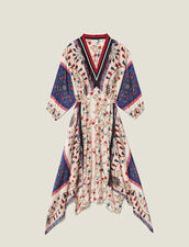Asymmetrisches Kleid Mit Print & Borte : null farbe Bunt