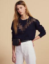 Pullover Mit Spitzeneinsatz : Pullover & Cardigans farbe Marine