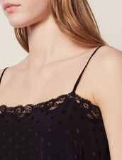 Lingerie-Top Aus Ton-In-Ton-Jacquard : Tops & Hemden farbe Schwarz