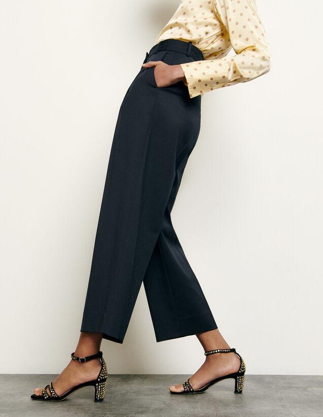 Kostümhose aus Wolle : Hosen farbe Marine