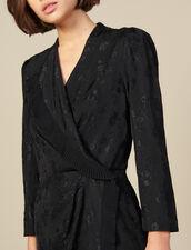 Kurzes Wickelkleid aus Jacquard : FBlackFriday-FR-FSelection-30 farbe Schwarz