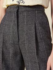 Weit geschnittene Hose mit Karomuster : LastChance-ES-F50 farbe Grau