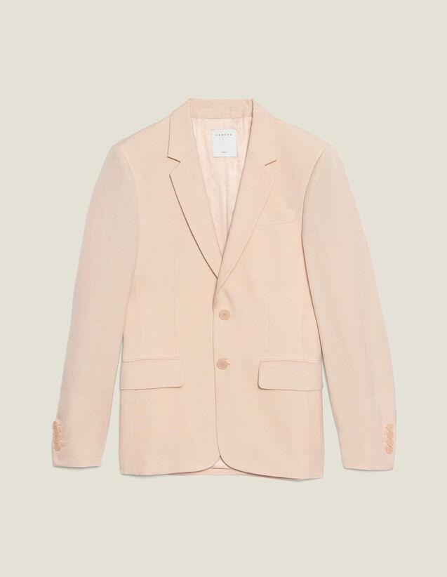 Anzugsakko Aus Leinenmischung : Anzüge & Smokings farbe Blassrosa