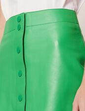 Rock Aus Neonfarbenem Leder : null farbe Grün