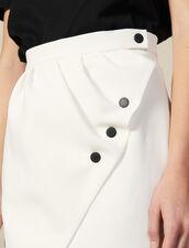 Kurzer Wickelrock : FBlackFriday-FR-FSelection-Jupes&Shorts farbe Ecru
