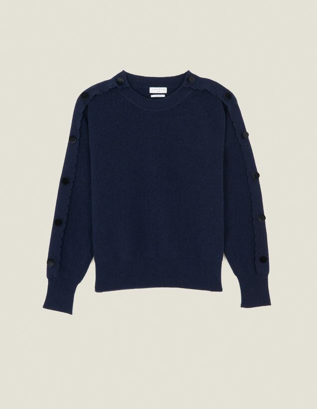 Pullover Mit Knöpfen An Den Ärmeln : Pullover & Cardigans farbe Marine