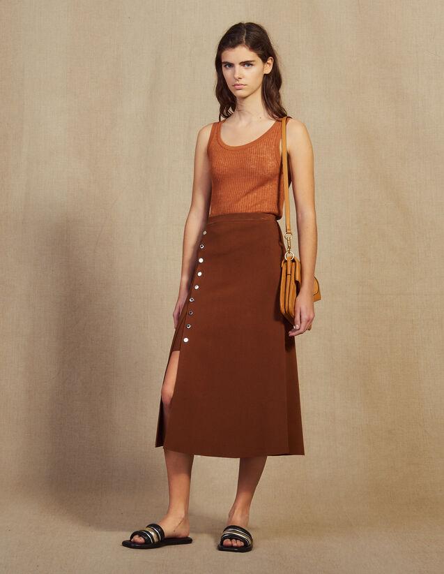 Strickrock Mit Schlitz : Röcke & Shorts farbe Braun