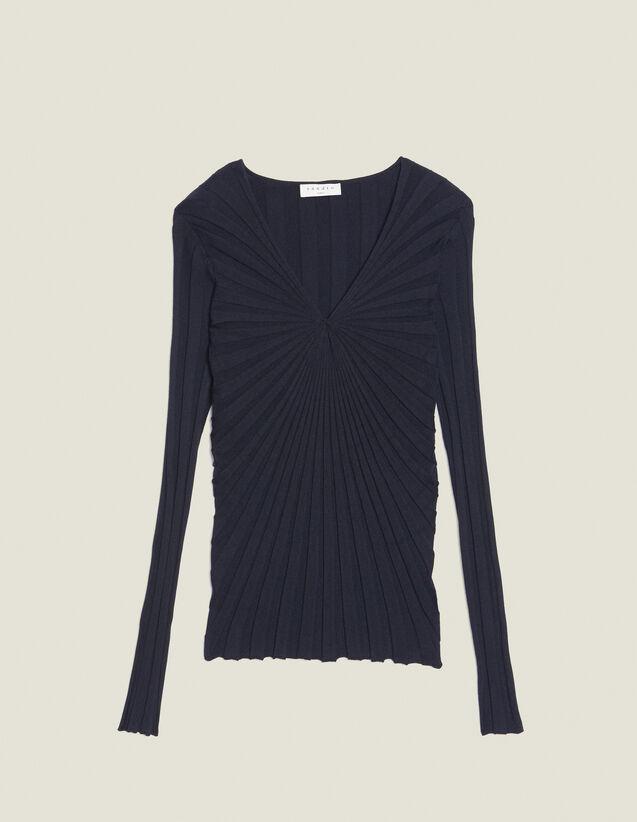 Pullover Aus Baumwolle Mit Langen Ärmeln : Pullover & Cardigans farbe Marine