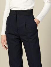 Gerade Hose mit Smokinggürtel : Hosen farbe Marine
