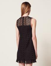 Ärmelloses Kleid Aus Gipürespitze : null farbe Schwarz