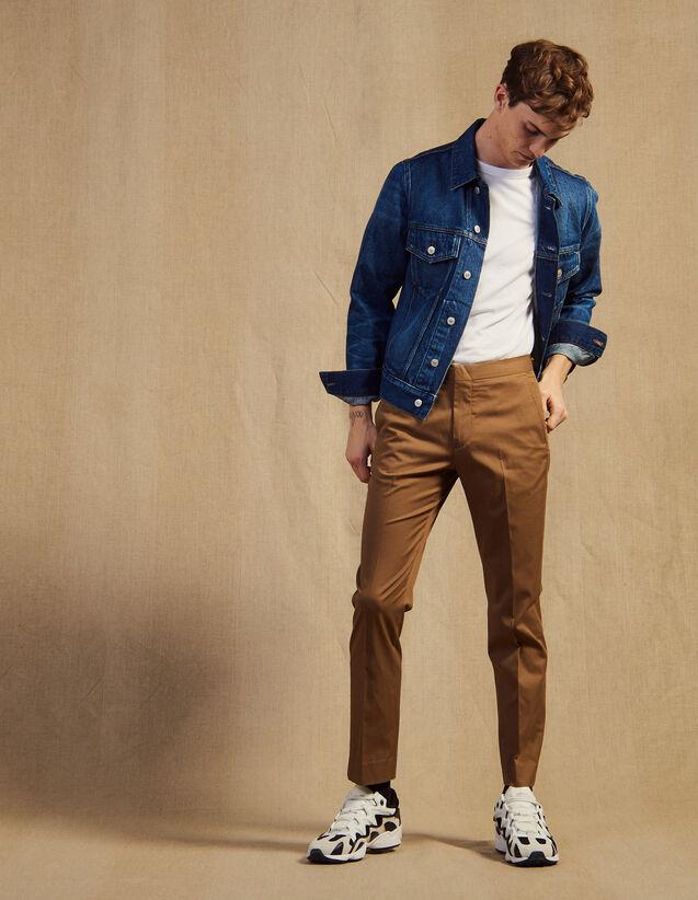 Körperbetonte Chinohose : Hosen & Shorts farbe Marine